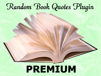 Random Book Quotes Plugin - Premium Version